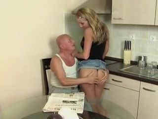 Mouthwatering Grandpa Fucks His Young Daughter In Law