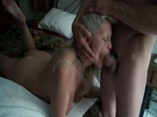 Horny Mature Blonde Sucking It Hard Like Never Before