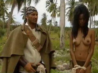 Pirates of the caribbean porn parody captured native girl as a sex slave
