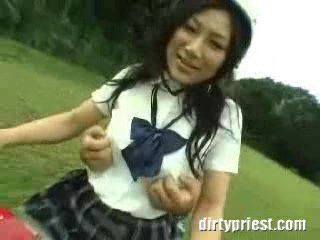 Japanese Schoolgirl Gets Groped By Her Classmate While Giving Him A Ride Home