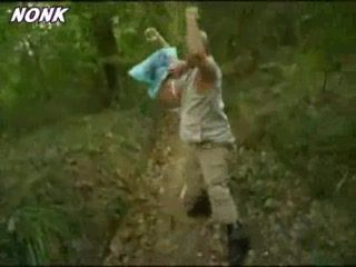 Guy Kidnap and  Fuck Poor Teen In The Forest
