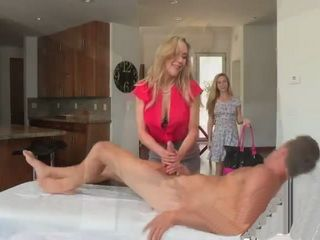 MILF Brandi Love has an erotic massage and ends in threesome with Taylor White