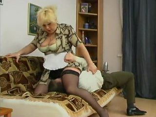 Busty Mature Cleaning Lady Attacks And Fucks Her Young Boss