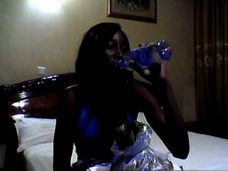 African Babe Is About To Pay Off The Dinner She Had With Horny White Tourist