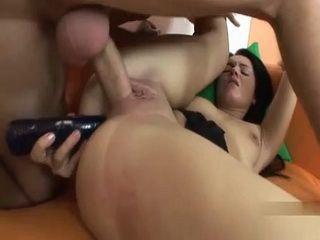 Hottie Gets Randomly Hard Fucked In Both Holes