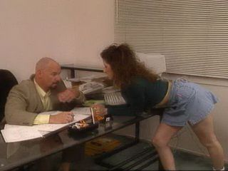 Creamy Office Babe Gets Ate And Fucked By Her Bold Boss And Her Colleague