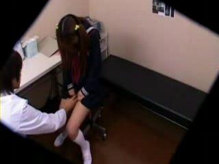 Pervert School Doctor Caught On Spycam Giving Full Body Inspection
