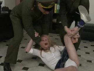 Teen Daughter Of a Traitor Gets  Anal Gang Fucked By Pissed Off Colonel and his Soldiers