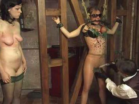 Two Geman Girls Gets Nettle on Genitals As Part Of Ferocious Torture By Their Master