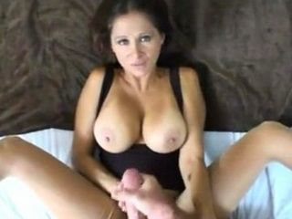 Nice POV Fucking and Huge Cum on Mommy Big Tits
