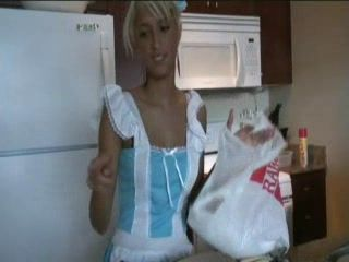 Blonde Teen Maid Great Blowjob