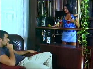 Exotic Barmaid Gives Full Service