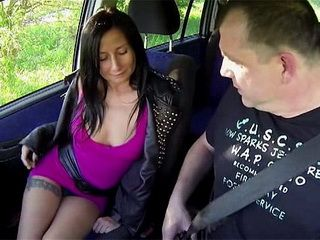 Sexy Brunette Whore Is Fucking Great In The Car