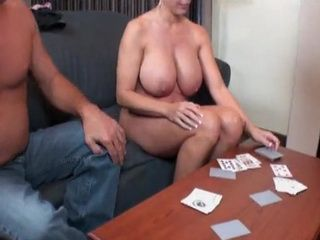 Busty Milf Loses Strip Poker Game