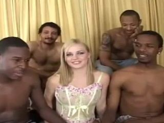 Mary Anne Having Lovely Afternoon With Four BBC Gangbang