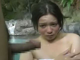 Young Asian Saw Interesting Thing In The Spa