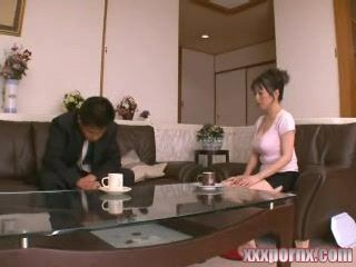 Japanese Housewife  Fucked by Husbands Brother
