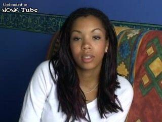 Ebony Girl Myriam Anal Casting at Iron Man