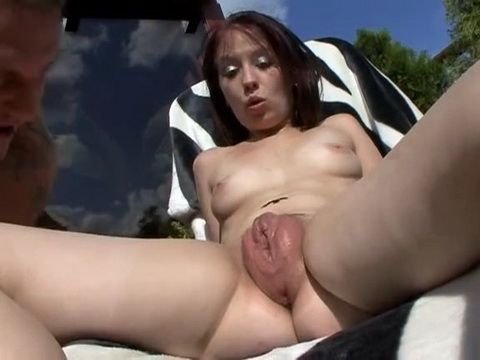 Her Pumped Up Pussy Gets Sprayed With Cum