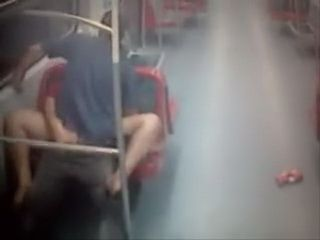 Amateurs Caught Fucking In A Public Train And Not Giving a Shit About It