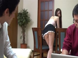 Boy Just Couldnt Resist Anymore Housemaid Teasing Him