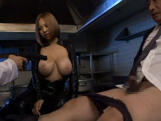 Undercover Agent Busty Hottie Ruri Saijo Gets Violated By Bandits