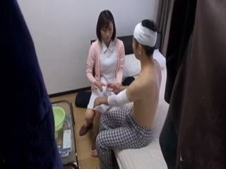 Nurse Hikari Kazami Healing Injured Patient Uncensored xLx