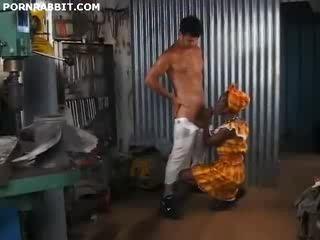 African Teen Pleasuring Her Boss