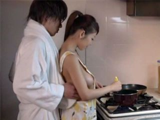 After Taking A Shower Guy Finds His Maid Wearing Only An Apron In The Kitchen So It Was To Hard To Resist