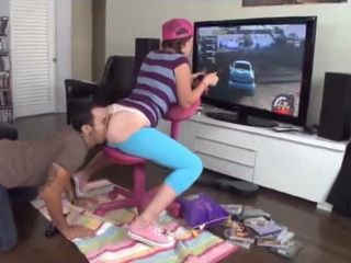 Teen Lizzie Tucker Fucked While Playing Video Game