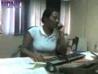 Amateur Mature Indian Secretary Gets Her Boobs Fondled at Office and Gives Blowjob To Boss