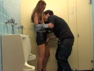 Horny Asian Couple Went To Shopping But They Could Not Resist Without Fucking So Long And Went To Public Toilet
