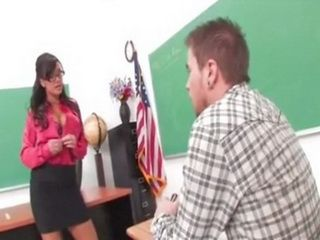 Naughty Teacher Start To Behave Inappropriate In The Middle Of Class