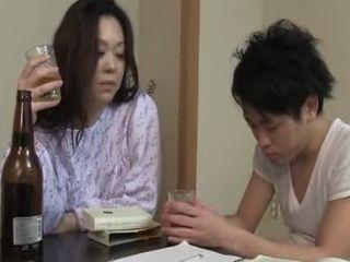 Japanese Mother Fucks Her Teenager Son Uncensored