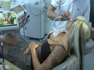 Pervert Dentist Gives Too Much Anesthesia To Tattooed Busty Girl And Fucked Her While Being Unconscious