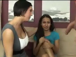 Slutty Stepmom Teachs Her Not Skillfully Stepdaughter To Please Cock