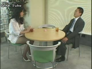Japanese Hot MILF Secretary In Net Stockings Fucked By Her Boss