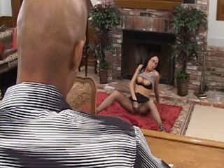 Horny Brunette Masturbating And Begging Black Guy To Put His Big Dick Inside Her Wet Pussy