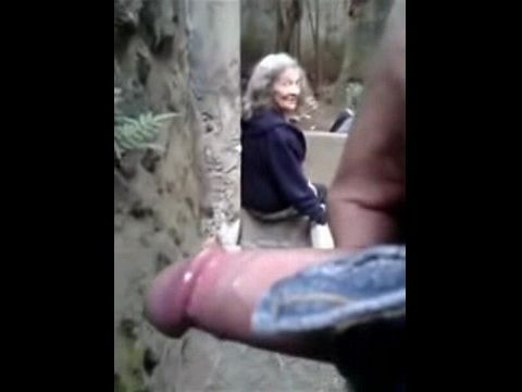 Teenager Fooling Around With Old Amateur Granny In Public