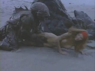 Terrified Girl Attacked By Monster On The Beach  Mainstream Movie Scene