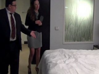 Old Fat Boss Called His New Assistent In Hotel Room With Creepy Sugestion