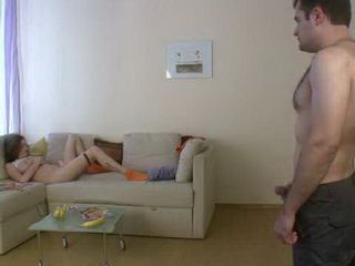 Busted In Masturbation Curly Stepdaughter Gets Her Punishment For Strict Stepdad