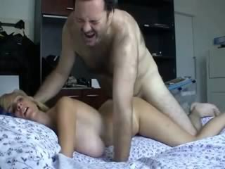 Blonde Milf Fucks With Older Man And Gets Wet Pussy Filled With Cum