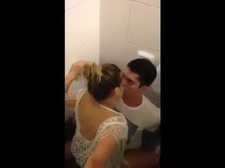 Busted Riding Dick In A Club Toilet
