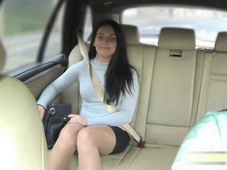 Sexy Lady In Stockings Enjoying In Car Sex