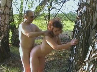 Curly Redhead Cheating On Her Husband With His Uncle Outdoor