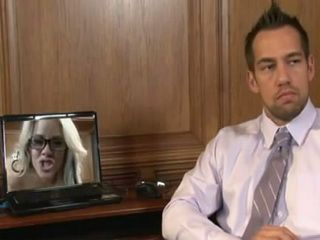 Pissed Boss Busted His Sexy Secretary Working As A Webcam Slut After Hours And Punish Her Properly