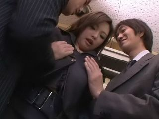 Hot Boss Aiko Hirose Wants To Punish Her Employees For Not Coming On Time At Work Uncensored