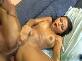 Brazilian Beauty Fucking On A Couch