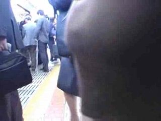 Japanese MILF Groped and Fucked In Subway
